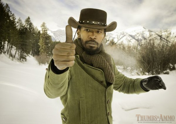 django unarmed Movie Scene Guns replaced with a 'Thumbs Up'