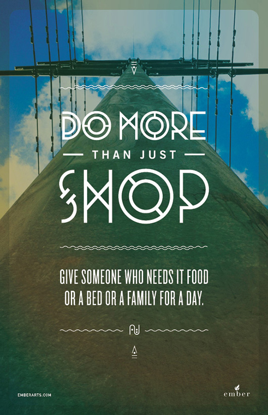 do more than just shop 2 Do More Than Just Shop Campaign by Caava Design