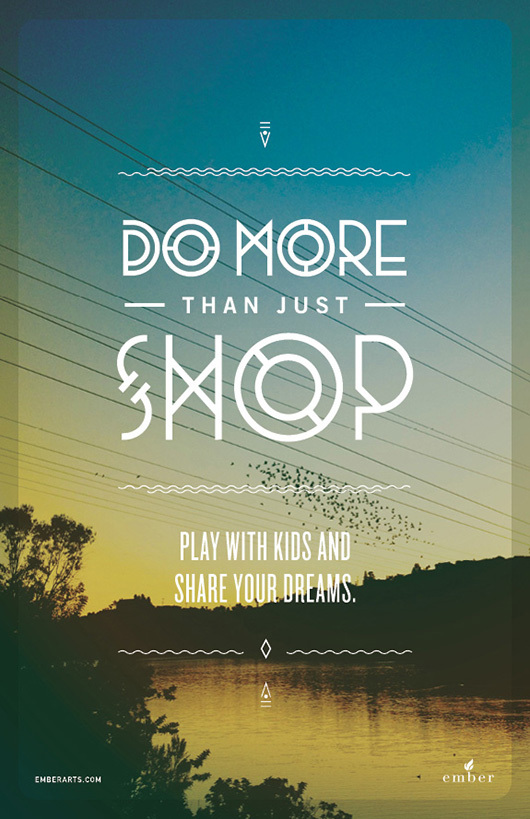 do more than just shop 3 Do More Than Just Shop Campaign by Caava Design