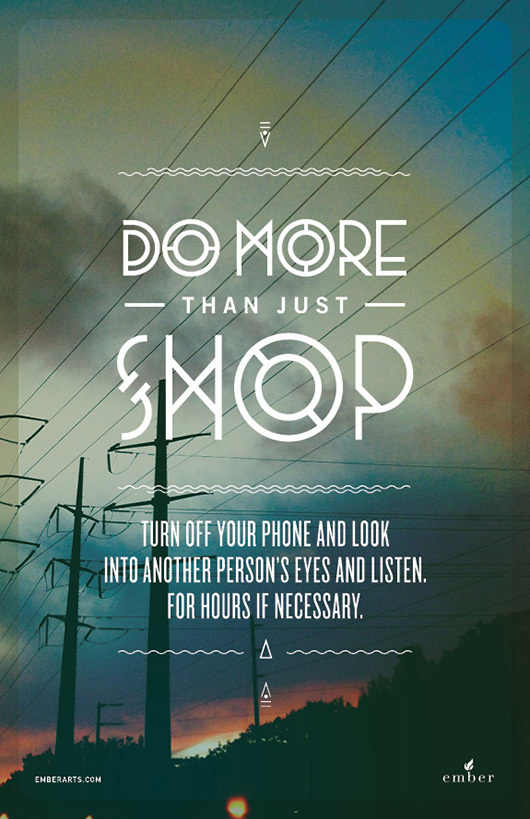 do more than just shop 8 Do More Than Just Shop Campaign by Caava Design