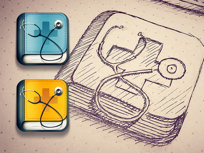 Doctor search iOS icon by Pawel Kadysz