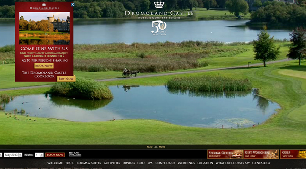 dromoland castle 2013 Web Design Inspiration: Designing with Video Backgrounds