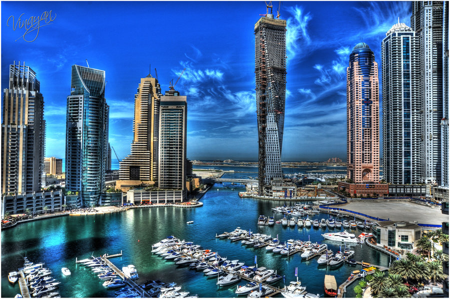 dubai marina hdr 1 by vinayan d3353k41 70 Jaw Dropping HDR Photographs