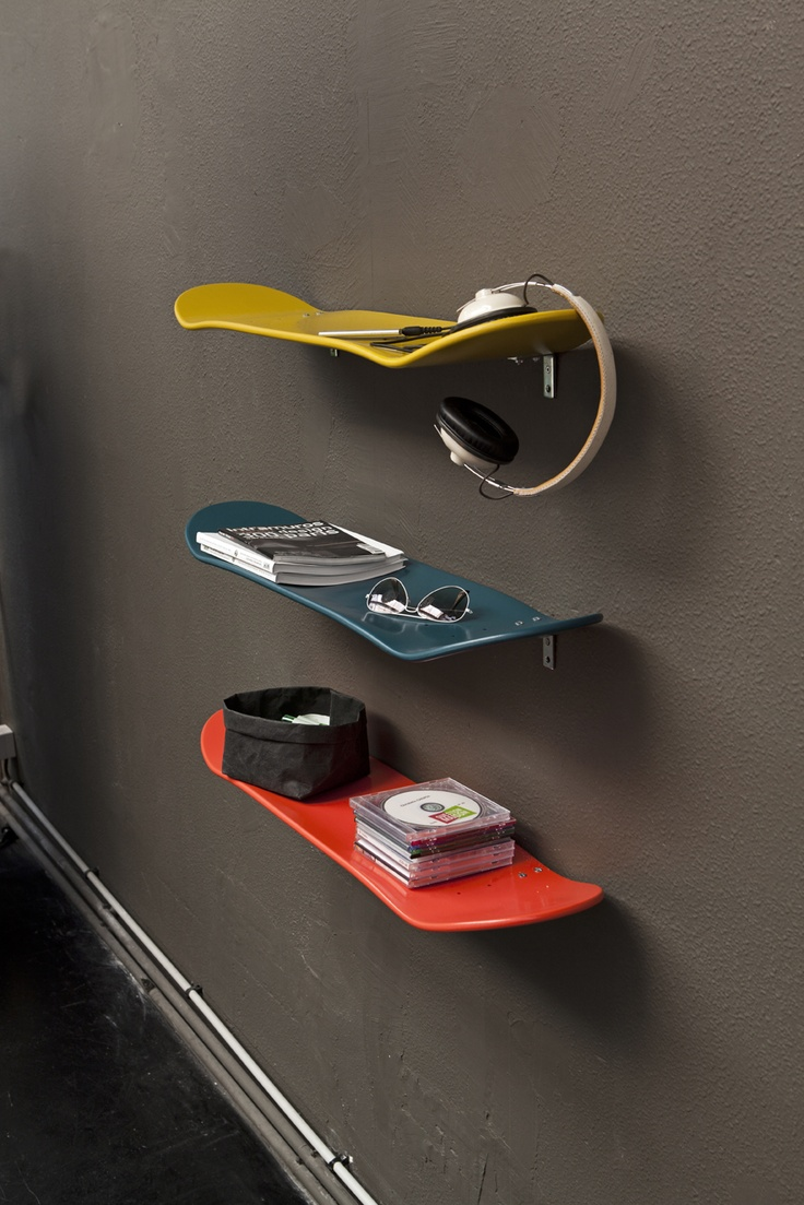 25 useful products made from repurposed skateboards inspirationfeed skate board shelves amipublicfo Images