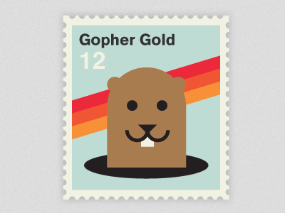 gopher1 50 Beautiful Postage Stamp Designs