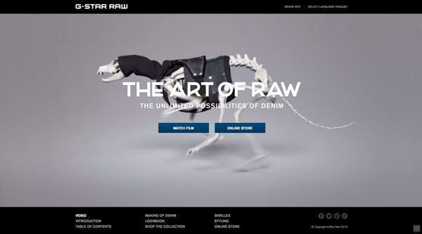 gstarraw 2013 Web Design Inspiration: Designing with Video Backgrounds