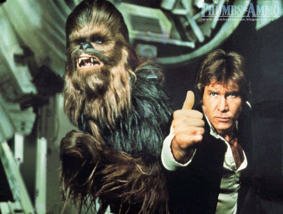han and chewie thumbs preston e Movie Scene Guns replaced with a 'Thumbs Up'