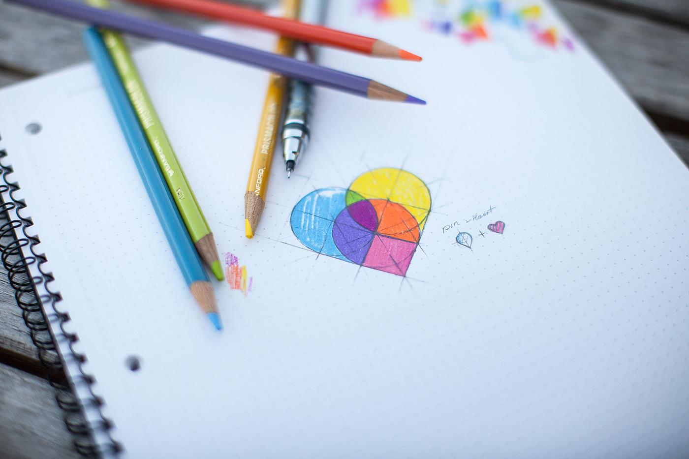 Map pins - heart by Eddie Lobanovskiy