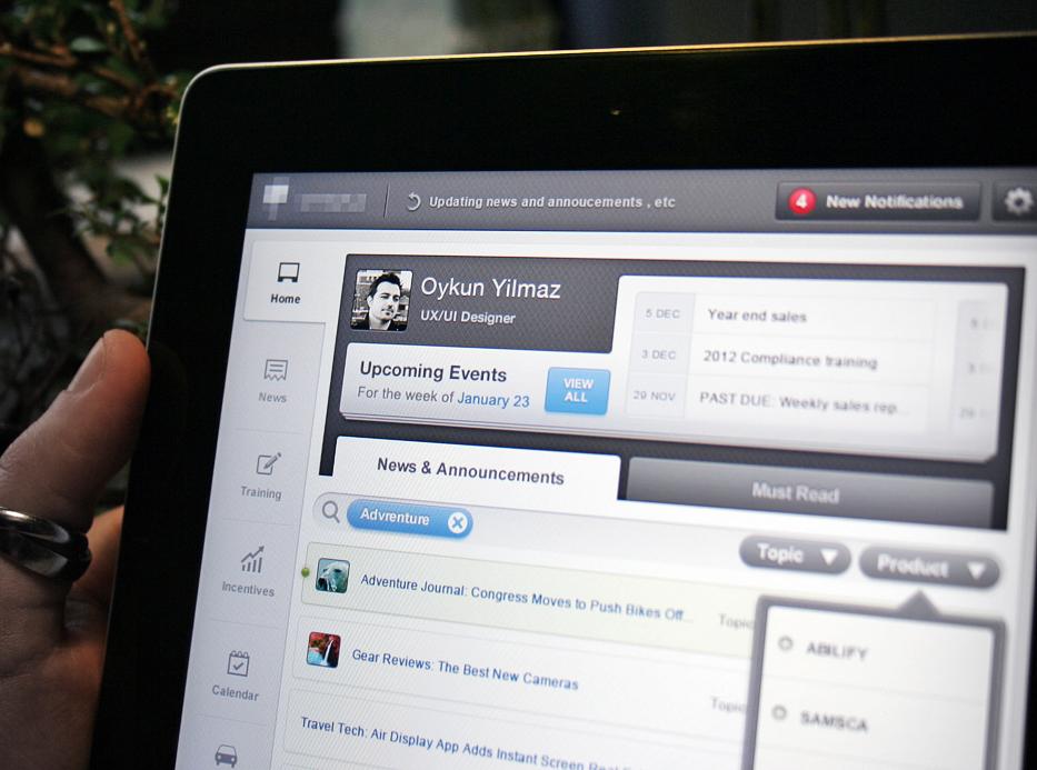 Home Screen (iPad App UX/UI) by Oykun