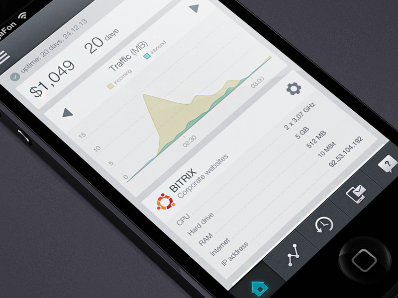 VPS iPhone app (flat version) by Cuberto
