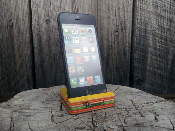 Recycled Skateboard Smartphone Stand