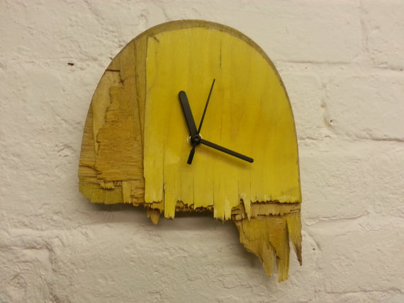 Unique Broken Skateboard Clock