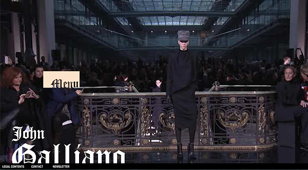 john galliano 2013 Web Design Inspiration: Designing with Video Backgrounds