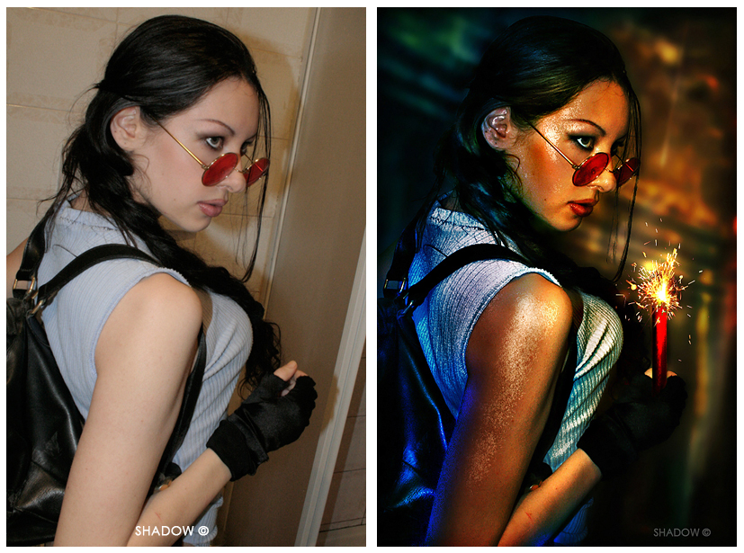 Lara Croft before and after