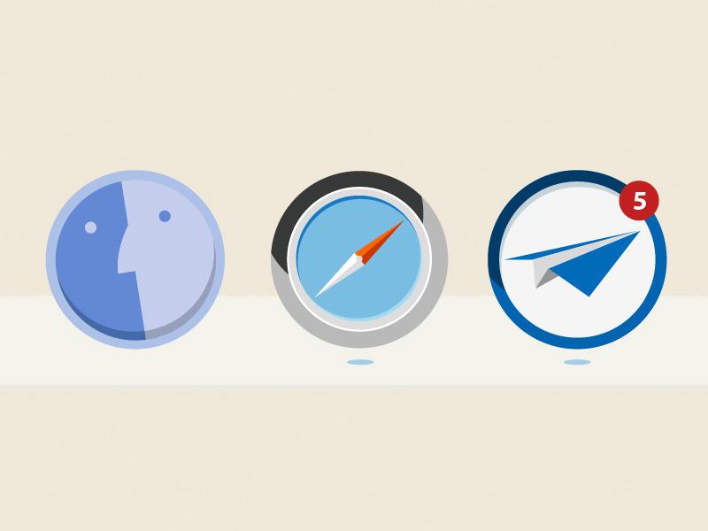 OSX dock icons - by Sam Markiewicz