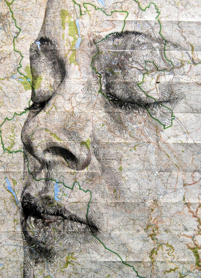 map portraits by ed fairburn 4 Striking Map Portraits by Ed Fairburn
