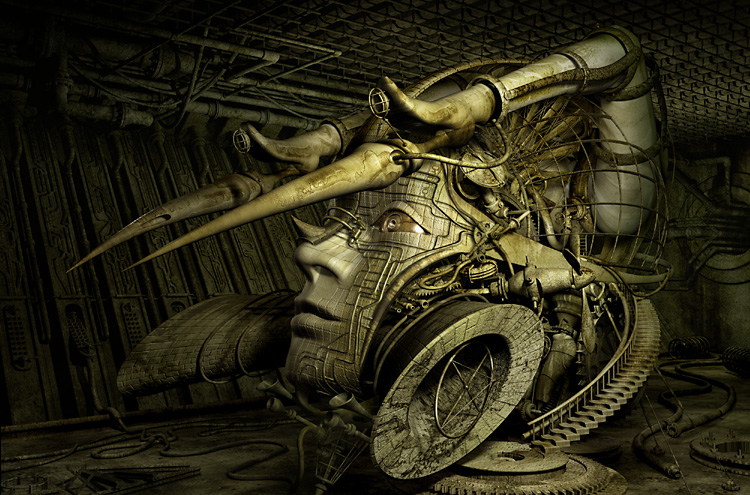 mechanical 3d digital art by kazuhiko nakamura 13 Mechanical 3D Digital Art by Kazuhiko Nakamura