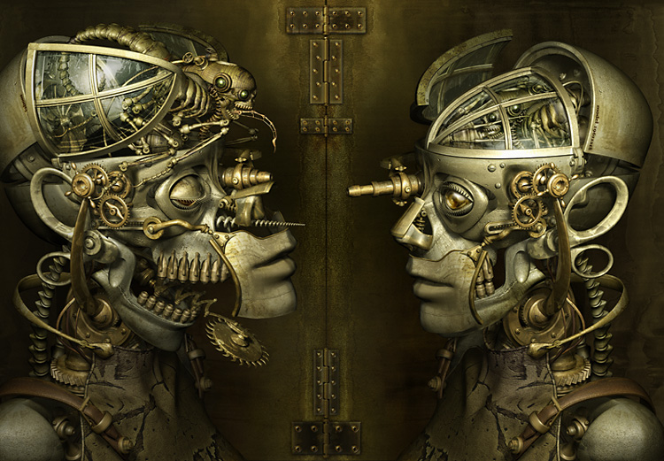 Mechanical 3D Digital Art by Kazuhiko Nakamura (3)