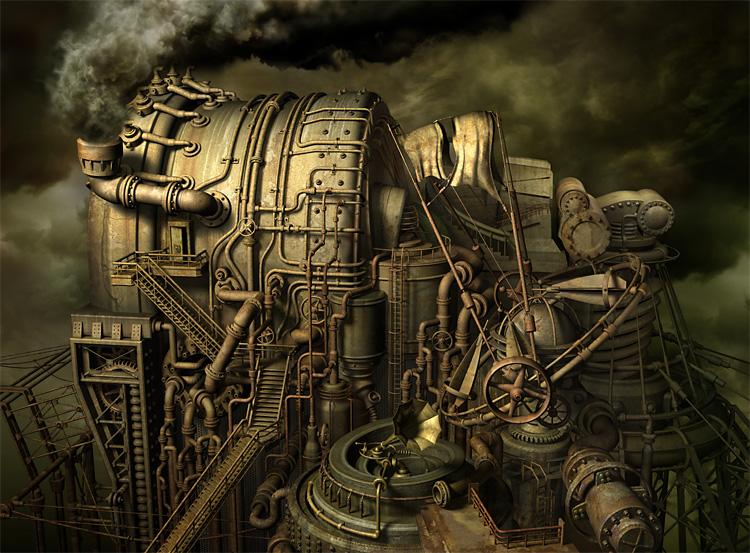 mechanical 3d digital art by kazuhiko nakamura 8 Mechanical 3D Digital Art by Kazuhiko Nakamura