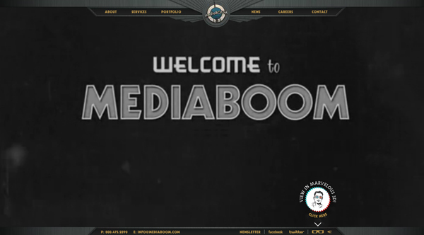 mediaboom 2013 Web Design Inspiration: Designing with Video Backgrounds