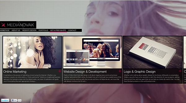 medianovak 2013 Web Design Inspiration: Designing with Video Backgrounds
