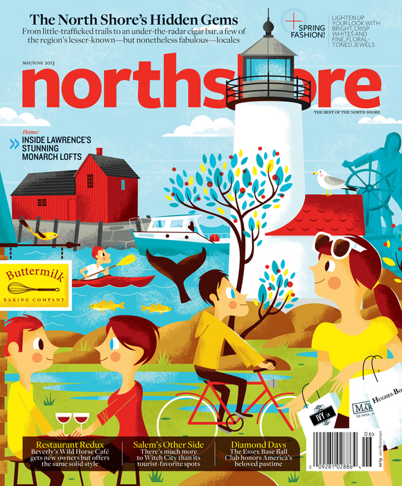 northshoremayjune13 1 thumb w 5801 50 Alluring Magazine Cover Designs
