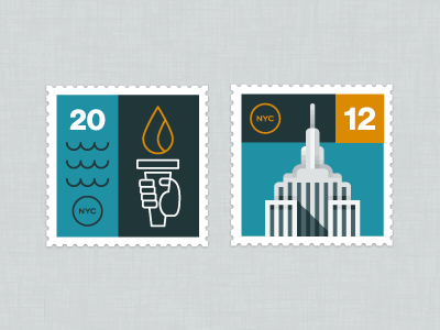 NYC Stamps by Eric R. Mortensen