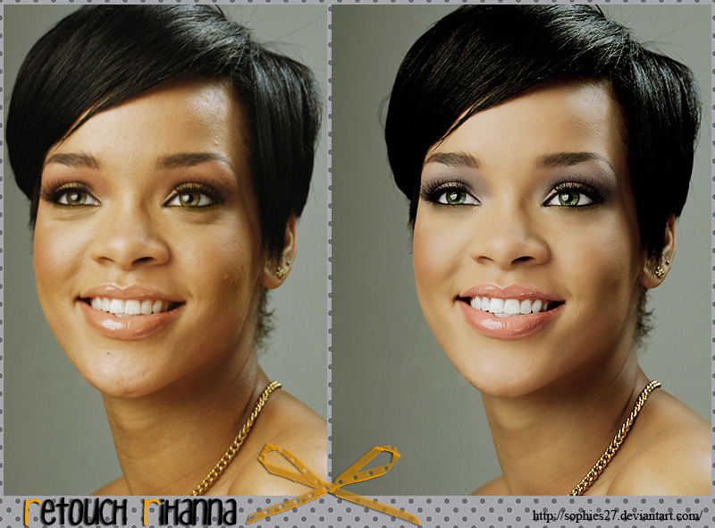 retouch rihanna by sophies271 Retouching Inspiration: 30 Incredible Before and After Photos