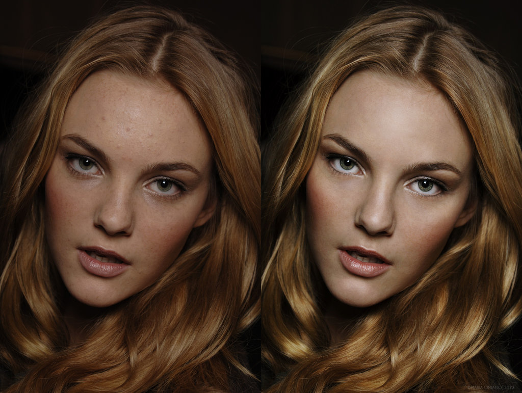 retouching practice - before and after