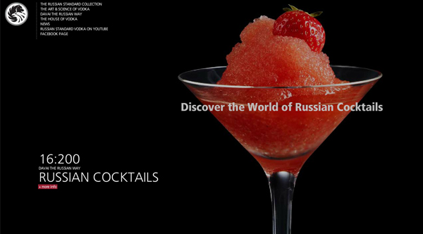 russian standard vodka 2013 Web Design Inspiration: Designing with Video Backgrounds