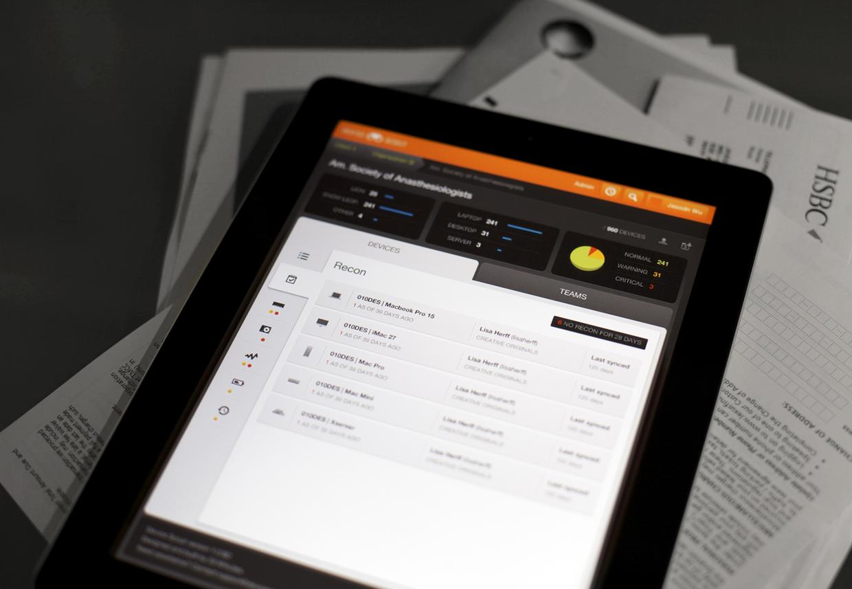 Device Dashboard - iPad - UI/UX/iOS by Jason Wu