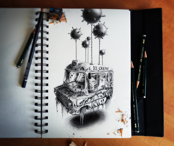 sketchbook drawings and illustrations by pez 2 Sketchbook Drawings and Illustrations by PEZ