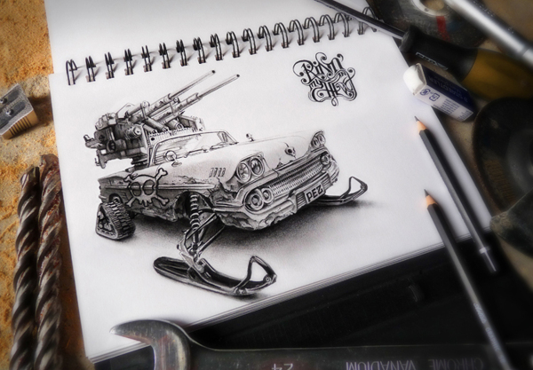 sketchbook drawings and illustrations by pez 7 Sketchbook Drawings and Illustrations by PEZ