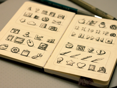 sketchy icons the third1 Beautiful Brainstorming: 25 Inspirational Icon Sketches
