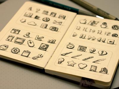 Sketchy Icons The Third by Joshua Bullock