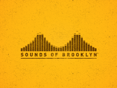sounds of brooklyn1 40 Music Based Logo Designs