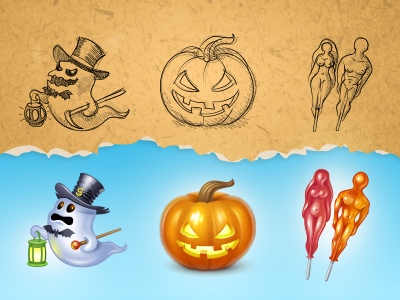 Halloween gifts for Spaces.ru by Iconka