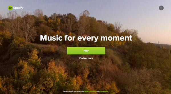spotify 2013 Web Design Inspiration: Designing with Video Backgrounds