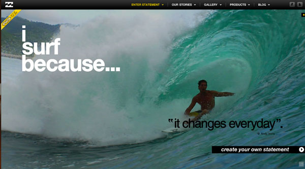 surf 2013 Web Design Inspiration: Designing with Video Backgrounds