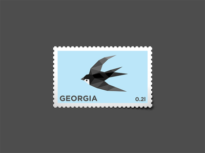 Swallow Stemp by George Bokhua