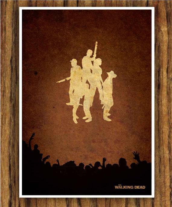 The Walking Dead Poster by Edmond