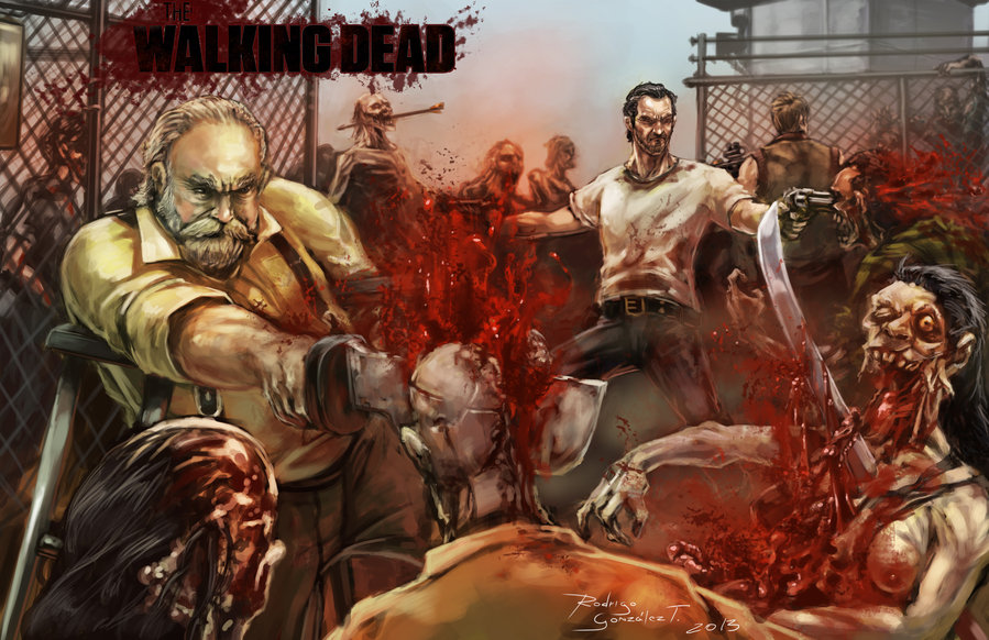 the walking dead by blacksadd d5szbm31 40 Expressive Walking Dead Fan Artworks