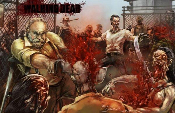 The Walking Dead by BLACKSADD