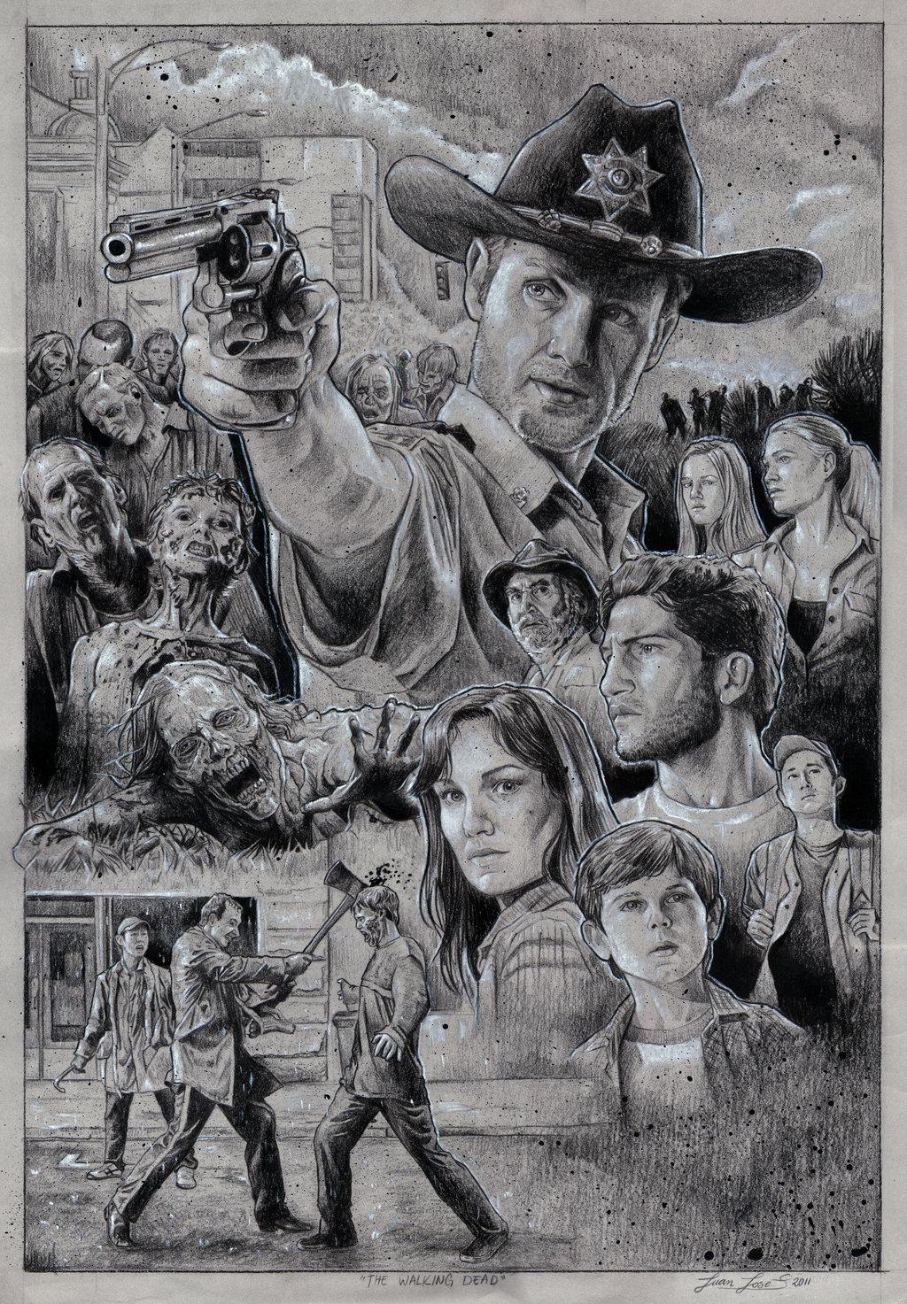 The Walking Dead by Juan Jose Saldarriaga