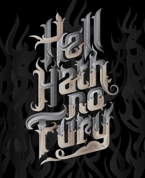 Really nice lettering from Bobby Haiqalsyah, via Behance