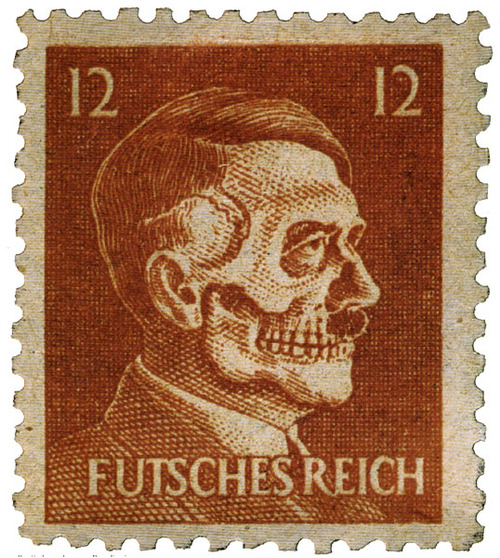 Deaths Head Hitler Postage Stamp (1945)