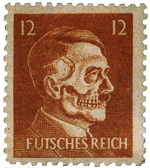 Deaths Head Hitler Postage Stamp (1945)