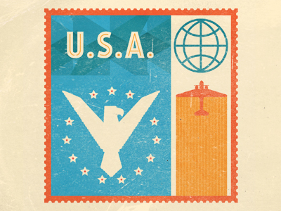 usa stamp1 50 Beautiful Postage Stamp Designs