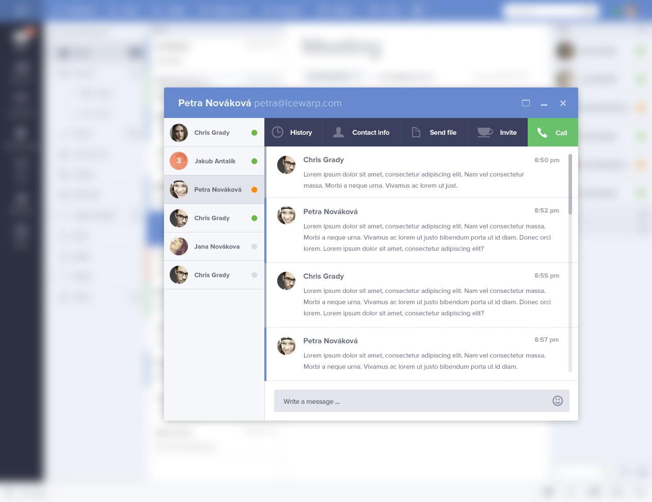 Chat window by Jakub Antalík Follow