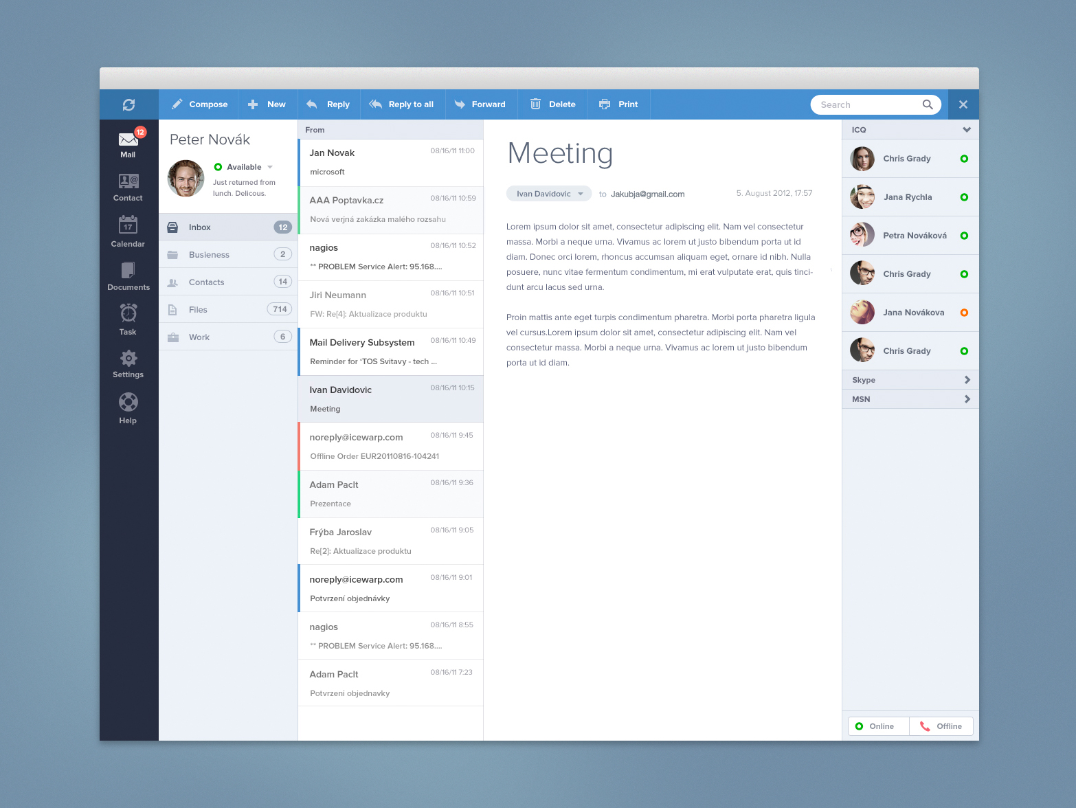 Email client by Jakub Antalík